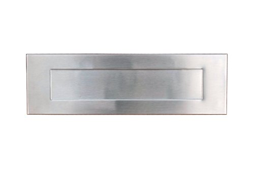 (Stainless Steel Wall Mount Front Side Door Mail Slot, Letter Box Plate Compatible With Any Door Type, 13 in. W x 4 in. H )