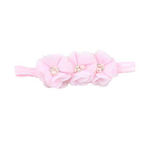 Gillberry Crown hair band Princess Baby Girl Crystal Pearl Crown Hairband (Pink (Baby Pink Crystal)