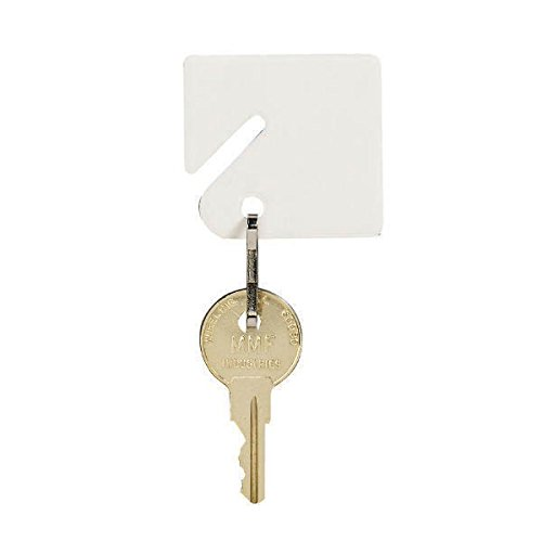 MMF Industries Slotted Rack Key Tags, Plastic, 1.5 Inch Height, White, 20 per Pack (201300006), 2 - Key Industries Tags Mmf