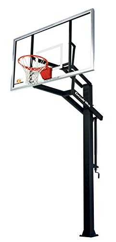 """Goalrilla GS I In-Ground Basketball System with 72"""" x 42"""" Tempered Glass Backboard"""
