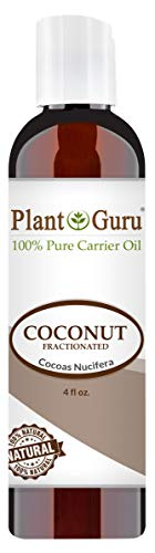 Base Coconut Oil (Fractionated Coconut Oil 4 oz 100% Pure MCT Natural Carrier - Skin, Face, Body, Massage and Hair Growth Moisturizer, Great for Diluting Aromatherapy Essential Oils)