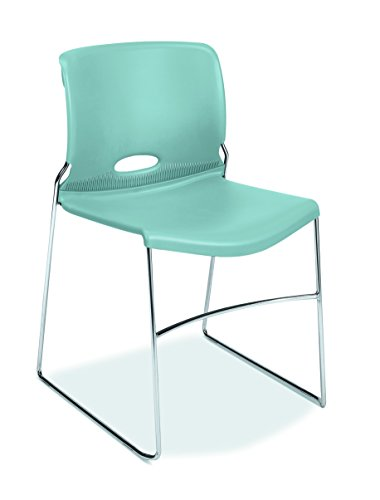 Multi Purpose Stack Chair (HON Olson Stacking Chair - Guest Chair for Office, Cafeteria, Break Rooms, Training or Multi-Purpose Rooms, Surf/Blue Shell, 4 pack (H4041))