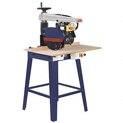 Radial Arm Saw, 1 HP, 115V