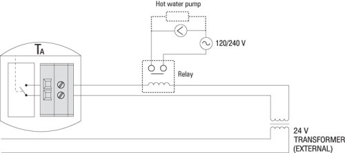 Aube by Honeywell TH135-01-B/U Hydronic Heating Non-programmable Thermostat by Aube by Honeywell: Amazon.es: Bricolaje y herramientas