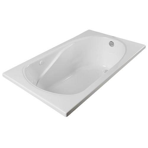 PROFLO PFS6032A 60″ x 32″ Drop In Soaking Bath Tub, White