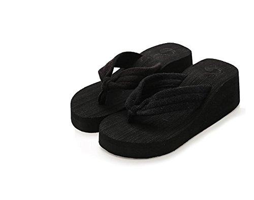 mhgao señoras alta sandalias y zapatillas playa Zapatillas de Moda Casual 4