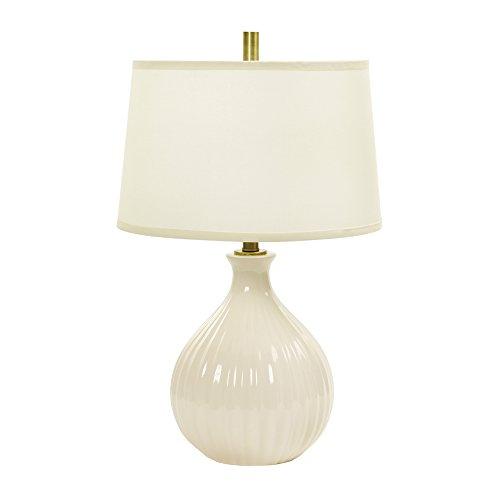 - Fangio Lighting W-MR8907EGG CR Table Lamp, Eggshell Crackle