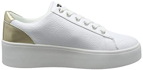 leather Donna Lady Sneaker Talli active Bianco Guess tqzwBTX