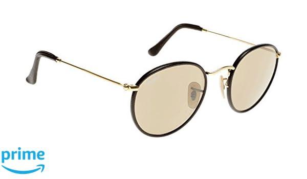 cd6466da8e Amazon.com  Ray-Ban 3475Q 112-53 Brown 3475Q Round Sunglasses Lens Category  2  Clothing