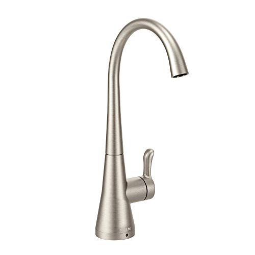 Moen S5520SRS Sip Transitional Cold Water Kitchen Beverage Faucet with Optional Filtration System, Spot Resist Stainless