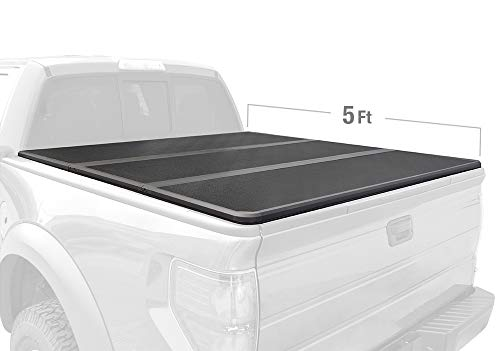 Tyger Auto TG-BC5T1530 Tuff-Fold Alloy Hard Top Tonneau Cover Works with 2016-2018 Toyota Tacoma | Fleetside 5' Short Bed | for Models with or Without The Deckrail System