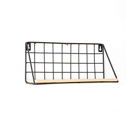 (Zhoyea Multi-Functional Rack Home Decoration Frame Wall Mount Wire and Wooden Portable (Size : 29.5X11X14CM))