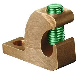 Grounding Lug - ILSCO GBL-4DB Lay-In Ground Lug, Copper Conductor, 14 to 4 AWG Conductor, 10 Stud, Copper