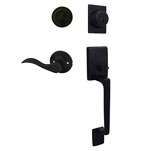 Cosmas 600 Series Oil Rubbed Bronze Handleset with 80 Series Interior RH (We Key Lock Orders Alike for Free)