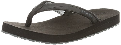 Columbia Women's Sorrento Leather Flip Black/Graphite 7 B US (Sorrento Post)