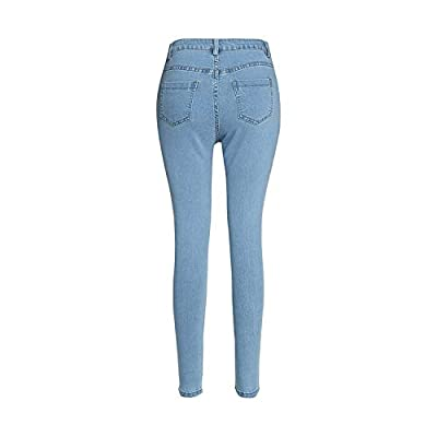 Andongnywell Women's High Waist Super Stretch Jean Jeggings with Pockets- Ultra Soft Skinny Pants: Clothing
