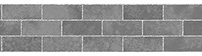 Fine Decor FDB50028 Slate Stone Tile Peel and Stick Border