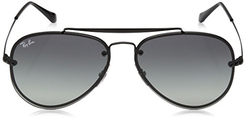 Ray-Ban 0rb3584n153/1158blaze Aviator Sunglasses, Demi Glos Black, 58 mm