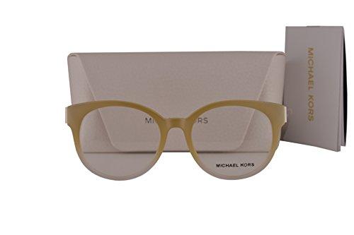 Michael Kors MK8010 Galicia Eyeglasses 50-18-135 Oak White Crystal 3038 MK - Michael Cheap Kors Eyeglasses