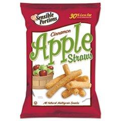 Sensible Portions Apple Straws, Cinnamon - 1 oz bag