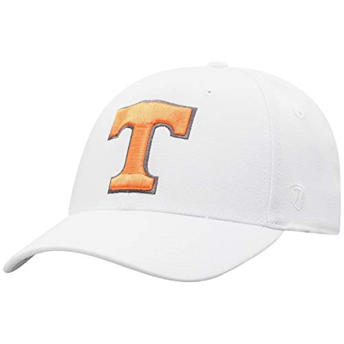 Top of the World Tennessee Volunteers Men's Memory Fit Hat Icon, White, One Fit