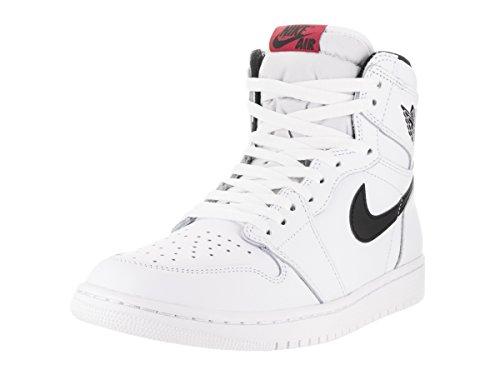 Jordan Nike Herren Air 1 Retro High Basketball Schuh Weiß / Schwarz / Weiß