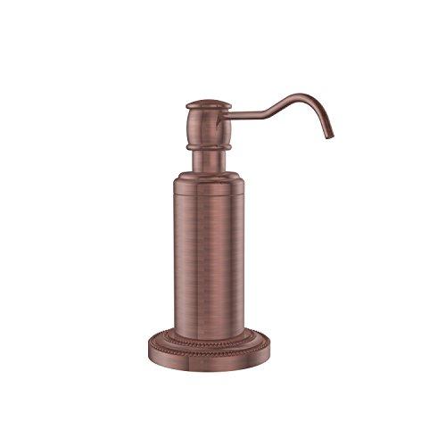 Allied Brass DT-61-CA Dottingham Collection Vanity Top Soap Dispenser Antique Copper ()