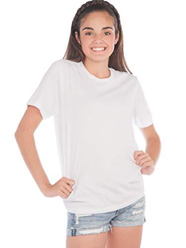 Kavio! Youth Crew Neck Short Sleeve Tee Jersey (Same YJC0263) White M