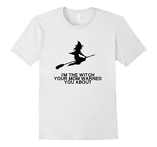 White Witch Costume Homemade (Mens Funny I'm The Witch Easy Halloween Costume T-shirt 3XL White)