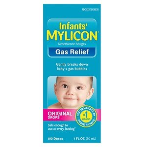 Mylicon Infant Drops Gas Relief Original Formula, 1.0 Fluid Ounce Per Bottle (8 Pack) by Mylicon