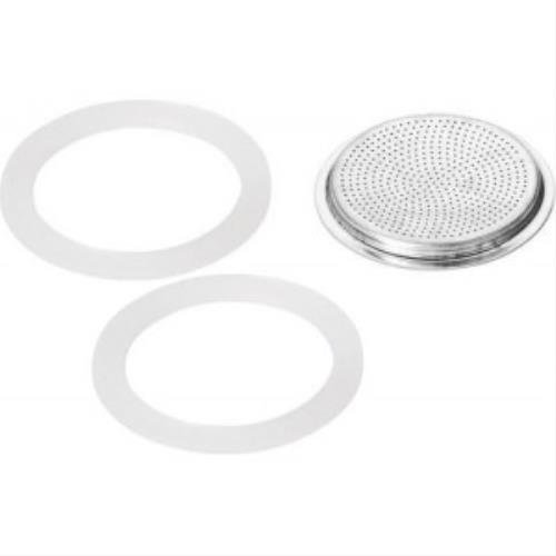 Forever: Universal Spare Parts for Well Known Espresso Coffee Makers 1-Cup (2 Gaskets + 1 Upper Filter) [ Italian Import ] (Italian Coffee Maker 2 Cup compare prices)