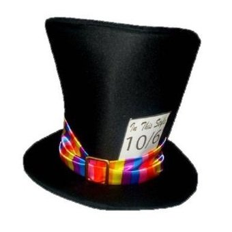 96f81a9b6c4 Mad hatter Top hat wonderland  Amazon.co.uk  Clothing