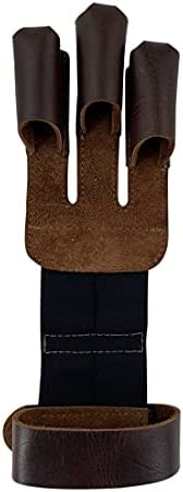 Hide & Drink, Three-Finger Archery Glove Handmade from Full Grain Leather - Bow and Arrow Shooting, Target
