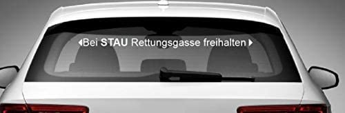 Dinger Design Aufkleber Bei Stau Rettungsgasse Freihalten Feuerwehr Drk Polizei Thw 60 Cm Auto