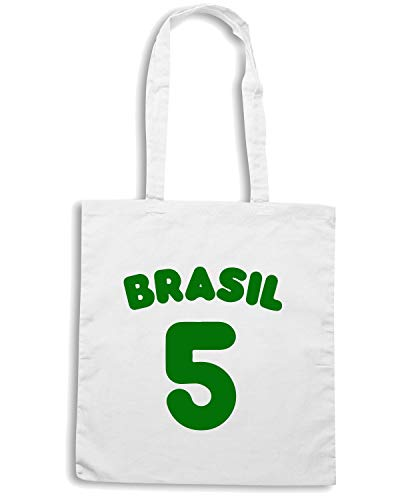 Shopper 5 Borsa WC1020 BRASIL Speed Shirt Bianca qxZvaWgESw