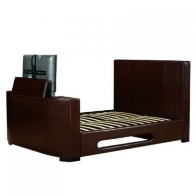 Palermo TV Bed Frame Size: Super King (6\'), Colour: Brown: Amazon.co ...