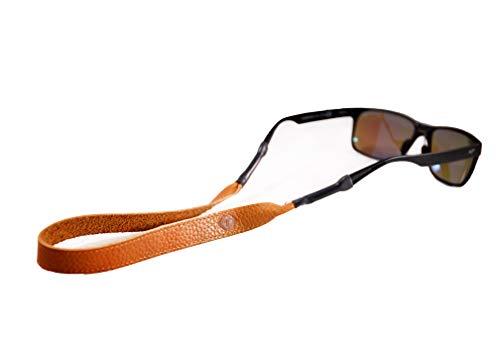 TETHER Tan Leather Eye Wear Retainer/Sunglass Strap/Eye Wear Strap (Tan) (Sonnenbrille Croakies)