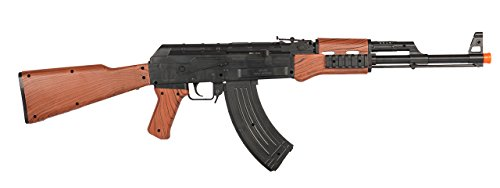 P2799A AK-47 Carbine Airsoft Assault Rifle 240 FPS Tactical Spring Powered Gun w/Red Dot & Faux Wood by UKArms