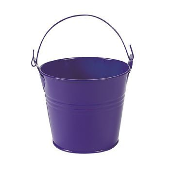 Purple Pails with Handles (12 Pack) Metal. - Halloween Party Supplies & Decorations & Party Favor