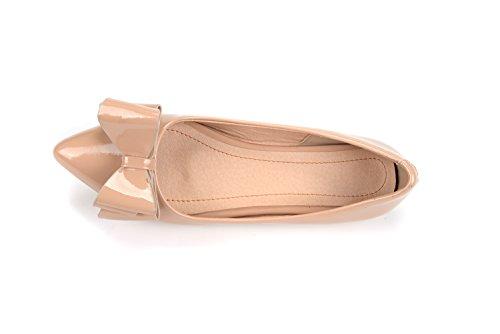 Show Lustro Archi Da Donna Slip On Punta Toe Flats Shoes Albicocca