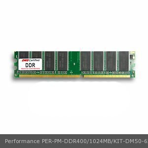 Performance PM-DDR400/1024MB/KIT equivalent 512MB DMS Certified Memory DDR PC3200 400MHz 64x64 CL3 2.6v 184 Pin DIMM - DMS