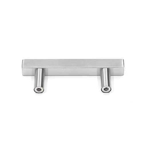 homdiy 25 Pack Kitchen Cabinet Pulls Stainless Steel Cabinet Handles Brushed Nickel Drawer Pulls 3in Hole Centers HDJ22SN Kitchen Hardware for Cabinets Drawer Pulls Brushed Nickel by Homdiy (Image #4)