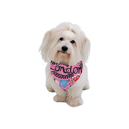 WUwuWU Dog Scarf Sightseeing Car Hand-Painted Travel Romance Printing Dog Bandana Triangle Kerchief Bibs Accessories for Large Boy Girl Dogs Cats Pets Birthday Party Gift