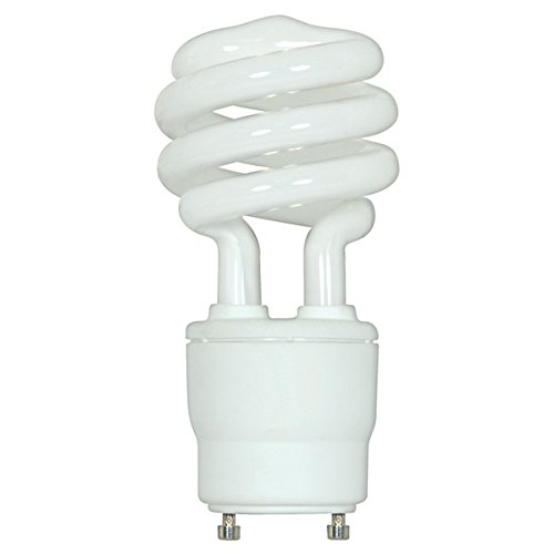 ((2-Pack) Satco S8205 18-Watt 2700K GU24 Base Mini Spiral Compact Fluorescent Lamp, 75W Equal)