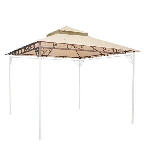 10'x10' Waterproof Gazebo Top 2 Tier Replacement UV30+ Outdoor Yard Canopy - Shopping Spokane