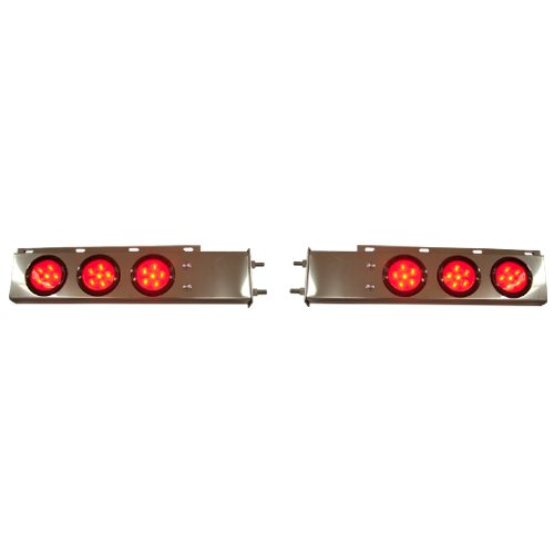 Stainless Steel Mud Flap Hanger Light Brackets w/ LED Stop Turn Lights (Led Mud Flap)