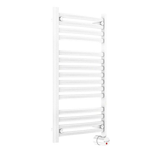 Mr. Steam W236WH Wall Mounted Towel Warmer, White Curved