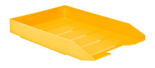 Acrimet Stackable Letter Tray (Solid Yellow Color) (1 Unit)