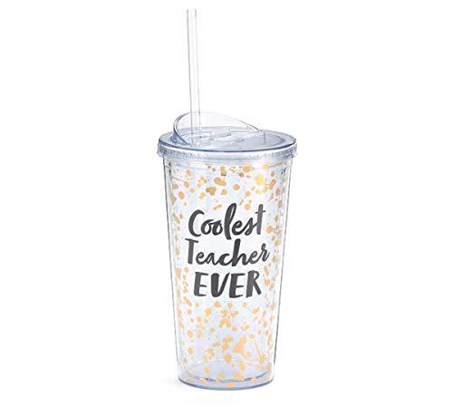 Coolest Teacher Ever Year End Appreciation Gift Tumbler, 20 Ounce (Best Teacher Ever Award)