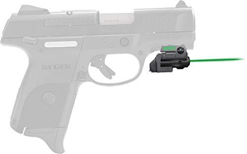 ArmaLaser Ruger SR9c SR40c GTO Green Laser Sight and FLX45 Grip Switch